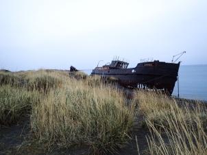 Bateau échoué à San Gregorio.