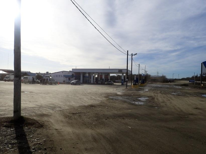La station-essence de Tolhuin, tout droit sortie d'un western actuel.