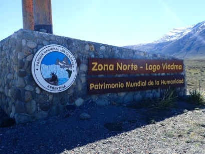 Entrée de la partie Nord du Parc National de Los Glaciares à proximité d'El Chalten.