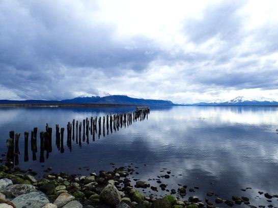 La vue féérique sur les fiords depuis Puerto Natales.