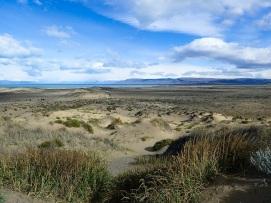 Quittant le Lac Argentino qui disparaît au loin.