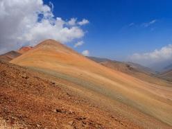 Montagnes de cuivre à proximité de Santiago