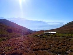 Refuge dans les montagnes au Nord-Est de Santiago