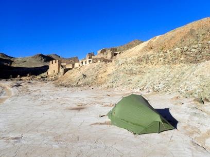 Campement au milieu des ruines d'Inca Huasi