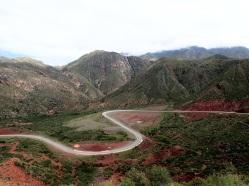 La route en lacets de la Cuesta de Miranda
