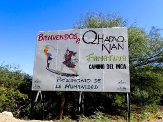 L'un des rares signes faisant mention du Qhapaq Ñan, à proximité de Famatina où je me suis ironiquement séparé de l'itinéraire historique