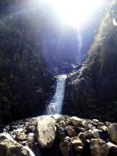 Magnifique cascade qui de bassin en bassin va rejoindre le rio Salkantay