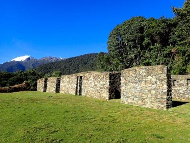 Le temple de Llactapata qui domine la montagne alentour, et d'où on peut même apercevoir le Machu Picchu