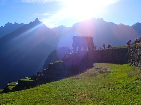 Maison du gardien, qui situé à l'intersection des deux chemins d'accès incas surplombe l'ensemble de la ville