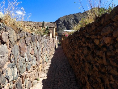 Les rues étroites du village historique