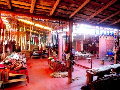 L'un des ateliers d'artisanat de Chinchero, où l'on peut acheter directement aux populations locales.