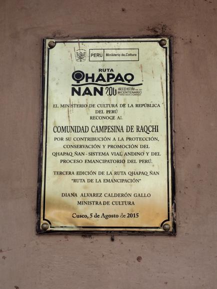 Le Qhapaq Nan, classe au patrimoine mondial de l'Unesco depuis 2014