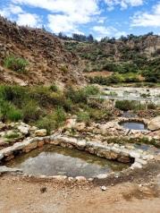 Les fameux bains thermaux a proximité de Cashapampa